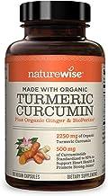 NatureWise Curcumin Turmeric 2250mg | 95% Curcuminoids & BioPerine Black Pepper Extract | Advanced Absorption for Cardiova...