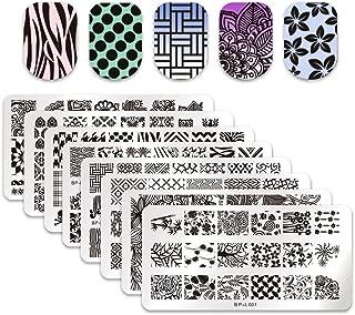 Born Pretty 8pcs L001-008 Nail Art Stamp Stamping Template Image Plates