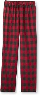 Joe Boxer Men's Fleece Lounge Pajama Pants Red & Black Plaid 3XL 3X