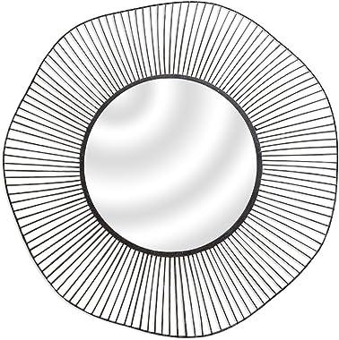 Miroir filaire rond en métal noir D.75cm WIRE