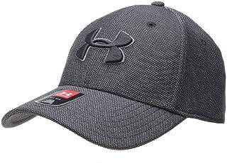 قبعة بليتزينج 3 للرجال مصنوعة من نسيج متداخل مرقطة من اندر ارمور قبعة، أسود/جرافيتي، قياس M/L