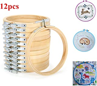 king do way 5pcs Stickrahmen, Kreuz Stitch Hoop Ring aus Bambus, 15.5/18.5/20.5/23/26cm 12pcs