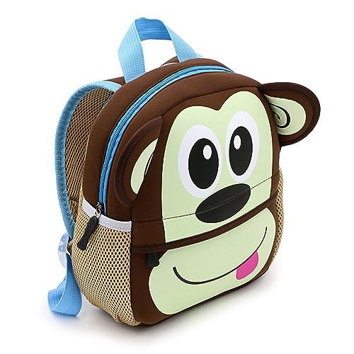 IGNPION Nursery Kids Backpacks Toddle Children School Bag Zoo Lunch Bag 3D  Cute Animal Cartoon Preschool c033520df8dee