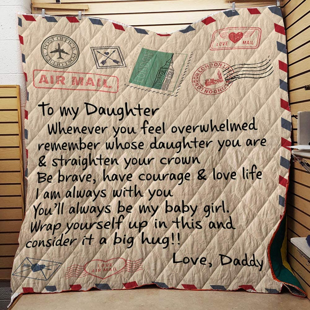 to My Daughter from Daddy Whenever Air Mail You Feel Overwhelmed New arrival low-pricing