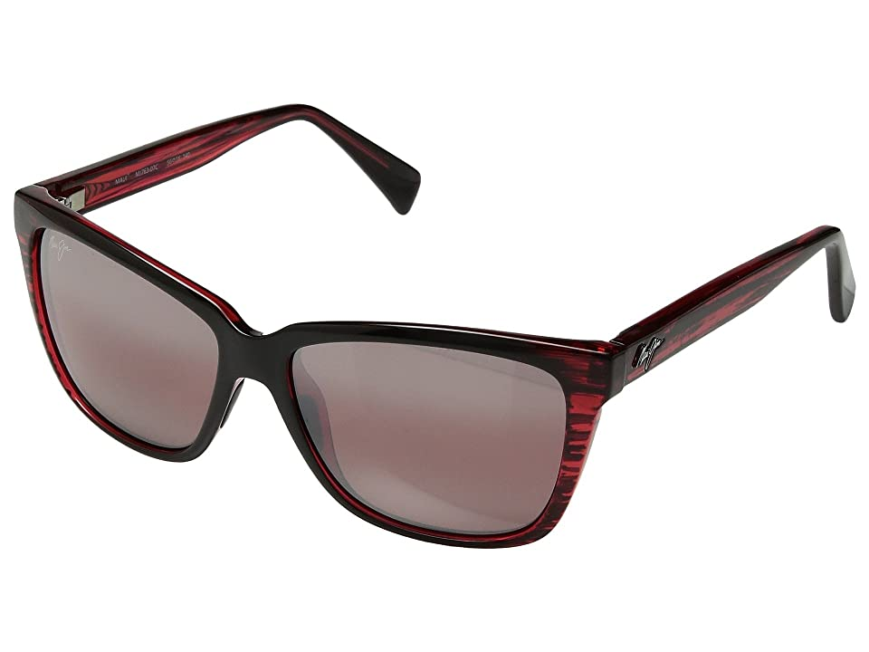 Maui Jim Jacaranda (Red Stripe) Athletic Performance Sport Sunglasses