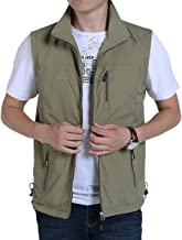 Gihuo Men's Golf Lightweight Photo Vest Fishing Travel Safari Vest