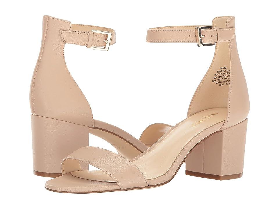 Nine West Fields Block Heel Sandal (Natural Leather) Women