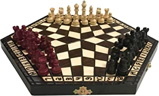 Wooden Chess Set for Three Player Size 12 inches. Contains a Booklet with Game Rules for Three Players in Polish, Hungarian, English, French, German, Spanish, and Russian. Handcrafted in Krakow.