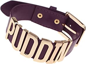 (purple) - Coolcoco Adjustable Purple Belt Gold Puddin Choker Necklace for Women and Girls Prime (About 3cm Width)