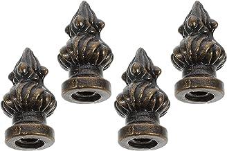 FRCOLOR Lamp Finial Cap Knob Antique Brass Lamp Finial Thread Retro Finial Decorations 4pcs