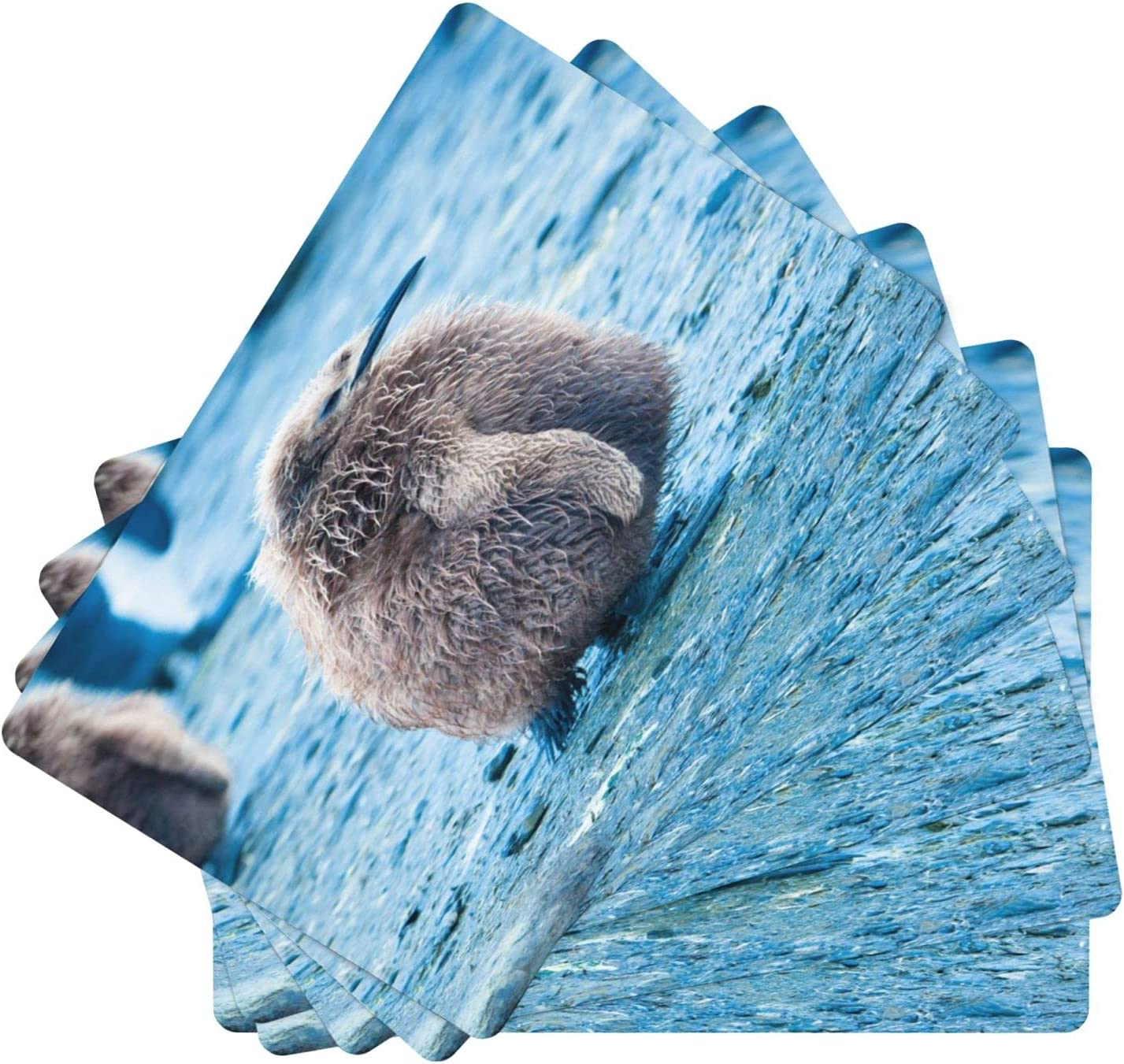 Cute Penguins Max 49% OFF Leather Table Mats Set Non-Slip [Alternative dealer] of Washable 6 Plac