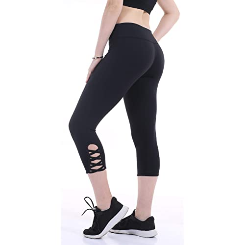 7ca4bc80ac5798 Heat Move Women Capri Yoga Pants with Pocket 4 Way Stretch Moisture Wicking  Leggings