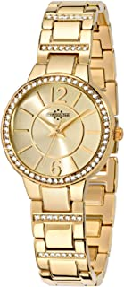 Chronostar R3753247505 Desiderio Year Round Analog Quartz Yellow Gold Watch