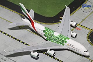 GeminiJets GJUAE1788 Emirates A380 A6-Eew Expo 2020 1: 400 Scale Diecast Model Airplane, White