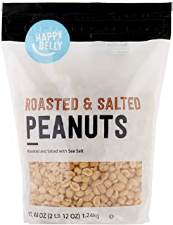 Amazon Brand - Happy Belly Roasted and Salted Peanuts, 44 ounce