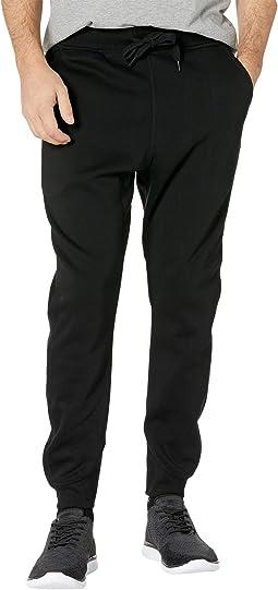 Premium Basic Type C Sweatpants in Dark Black