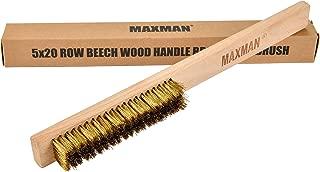 Brass Brush,Soft Brass Bristle Wire Brush,Wire Scratch Brush with 10