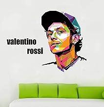 Fuzzy Valentino Rossi Wall Sticker(Vinyl 68 cm X 55 cm)