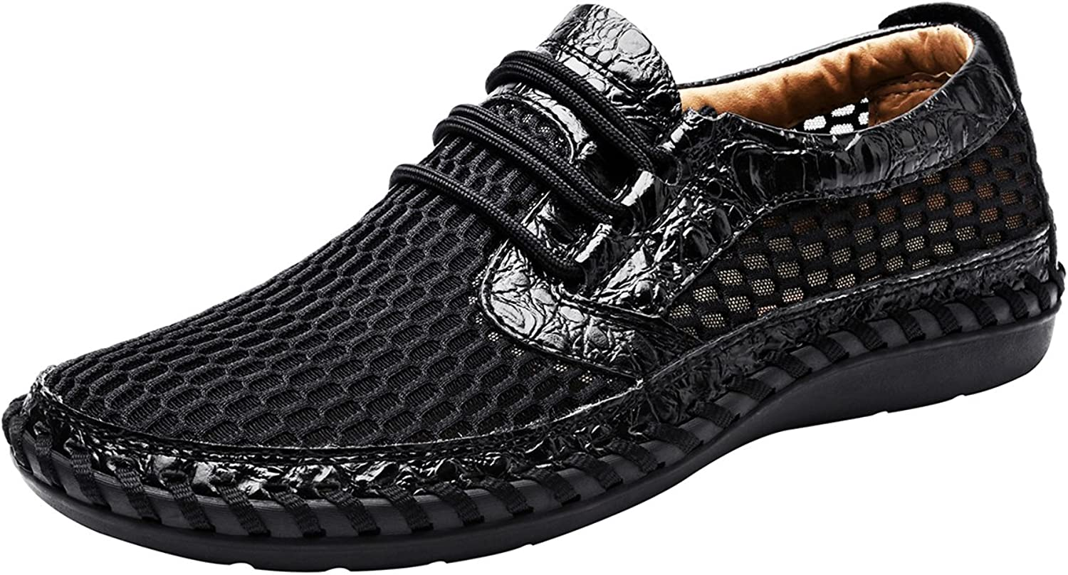 LOUECHY Men's Notus Mesh Breathable Walking Loafers Casual Hiking shoes