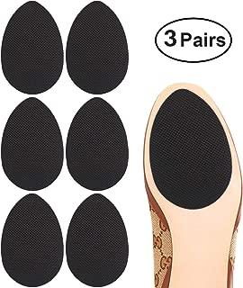 Dr. Shoesert Non-Slip Shoes Pads Adhesive Shoe Sole Protectors, High Heels Anti-Slip Shoe Grips (Black - 3 Pairs)