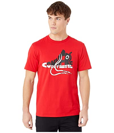 Converse Chuck Wordmark Graphic Tee (University Red) Men