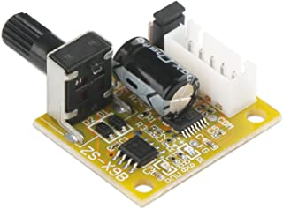 DROK Mini BLDC 3-Phase Brushless Sensorless Motor Driver Control DC 5V-12V 15W Speed Regulator Controller with Knob