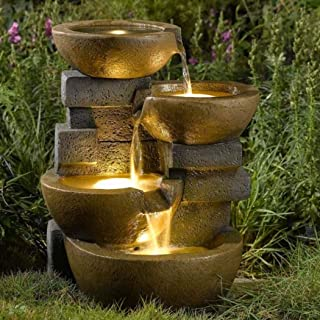 Jeco Inc. Pots Water Fountain with Led Light