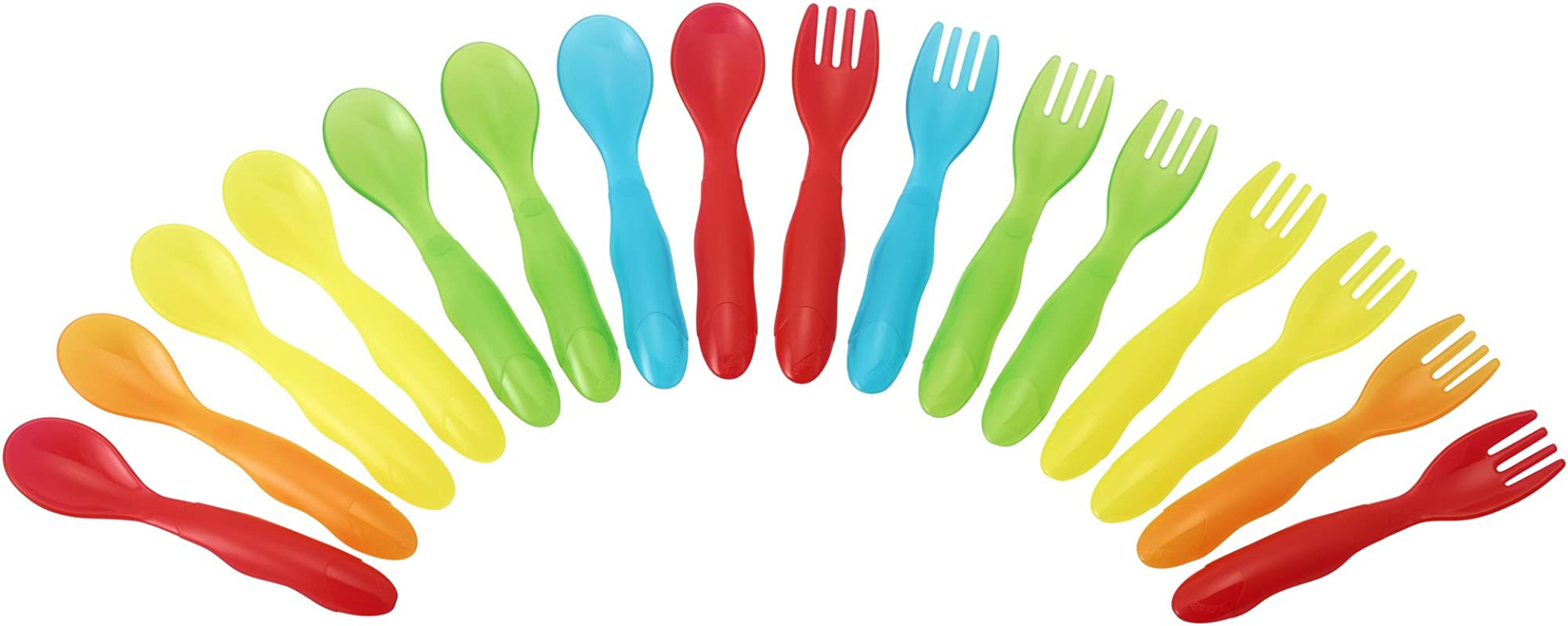 The First Years Take Toss Flatware For Kids 16 Pieces