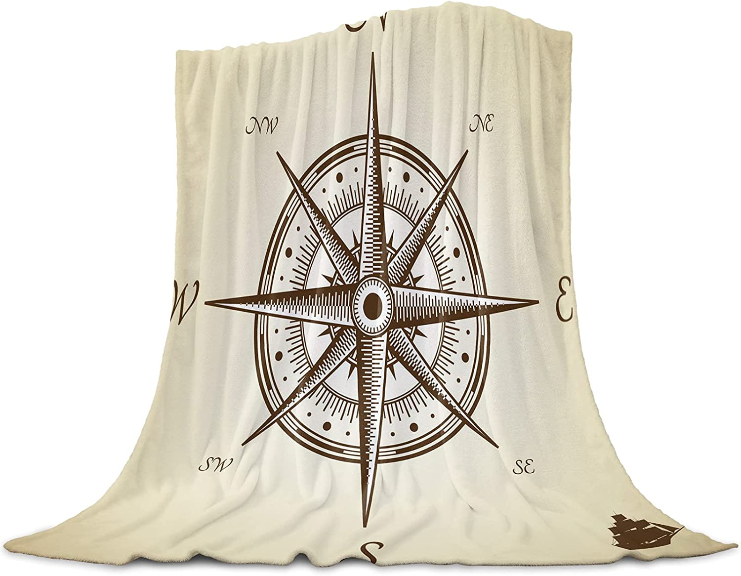 LEO BON Soft Warmer Throw Blankets Compasses for Be super welcome Season Product in R All