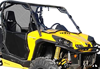 SuperATV Heavy Duty Scratch Resistant Full Windshield for Can-Am Commander 800/1000 / MAX (2011+) - Hard Coated for Extreme Durability - Installs in Minutes!