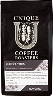 Island Toasted 'Coconut Kiss' Flavored Ground Coffee, 1 LB (16 oz) bag, Medium Roast, 100% Arabica Premium Quality Flavor