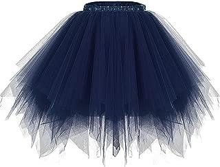 Women 50s Short Vintage Tulle Petticoat Skirt Ballet Bubble Tutu