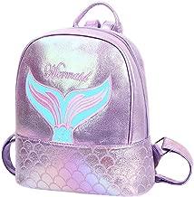 Badiya Small School Bags for Teenage Girls Holographic Laser Mermaid Backpack