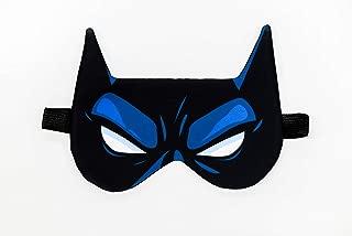 OhMyGifts Batman Sleeping Eye Mask - Superhero Design DC Comics Accessories Bed Supplies Sleep Light-Blocking Eye Cover Gift Idea for Girl Boys Adult Mens Childrens