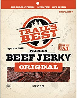 Trail's Best Original Hickory Smoked Beef Jerky 3 Ounce Pack (3 count)