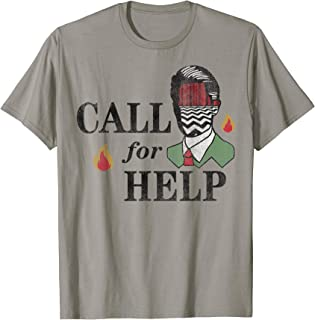Twin Peaks Call For Help Bust Silhouette Graphic T-Shirt