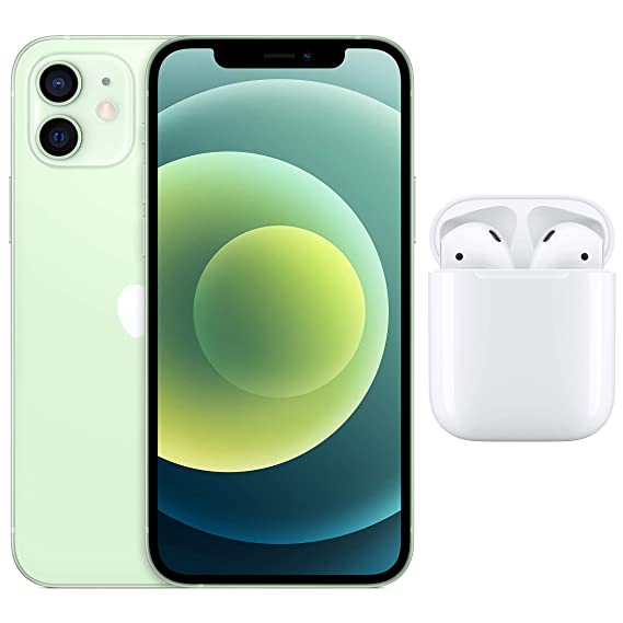 New Apple iPhone 12 (64GB) - Green with AirPods with Charging Case
