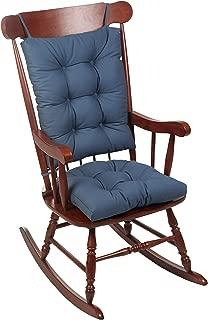 The Gripper Twill Jumbo XL Non-Slip Rocking Chair Cushion Set, Wedge Blue