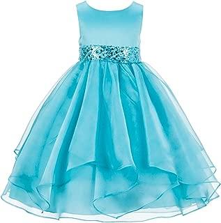 Áo quần dành cho bé gái – Organza Flower Girl Dresses Wedding Pageant Gown Holiday Dresses Junior Flower Girl Dress 012s