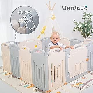 Foldable Baby Playpen Kids Activity Centre Grey