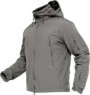 Men's Tactical Jacket Winter Sports Hiking Skiing Water Resistant Fleece Lined Winter Coats Multi-Pockets