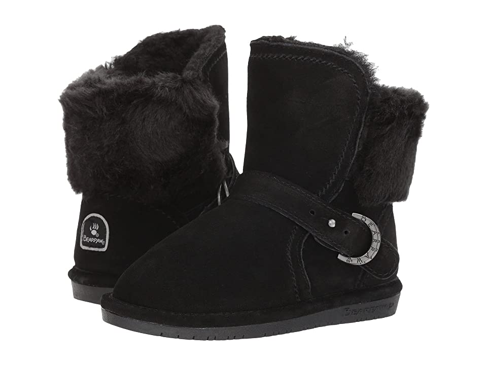 Bearpaw Kids Koko (Little Kid/Big Kid) (Black/Black) Girl