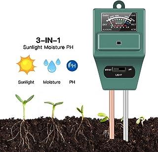 3 in1 PH Tester Soil Water Moisture Light Test Meter Kit for Moisture,Light & PH, for Home and Garden, Lawn, Farm, Plants,...