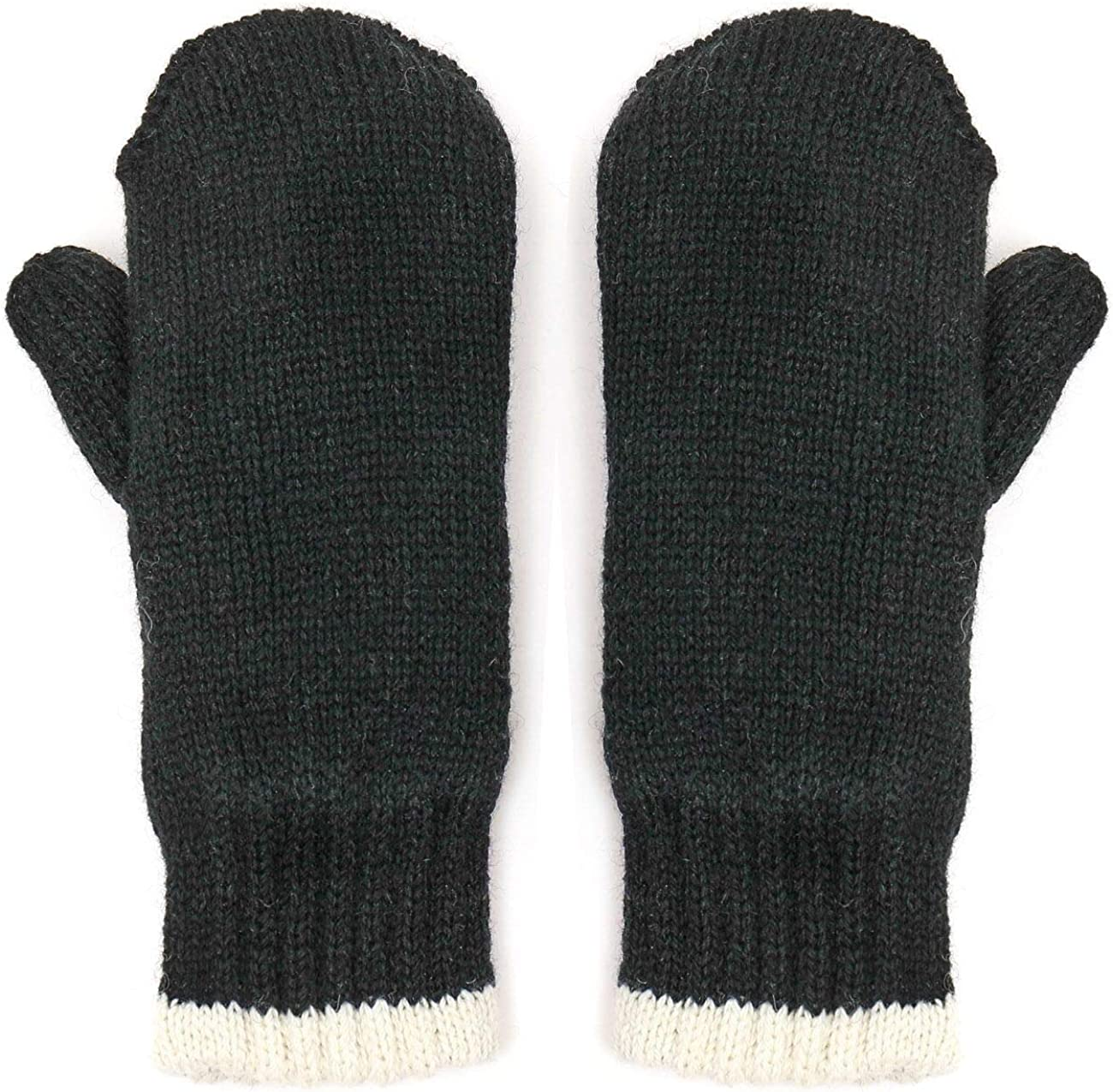 Metog 3M Thinsulate Type Mittens Heavy Double Ragg Winter Cozy Wool Knit Gloves