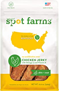 Spot Farms All Natural Human Grade Dog Treats, Chicken Jerky for Hip and Joint, 12 Ounce