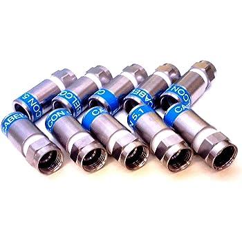 10 x Connecteurs cabelcon f-56 cX3 4.9 f-kompressionsstecker