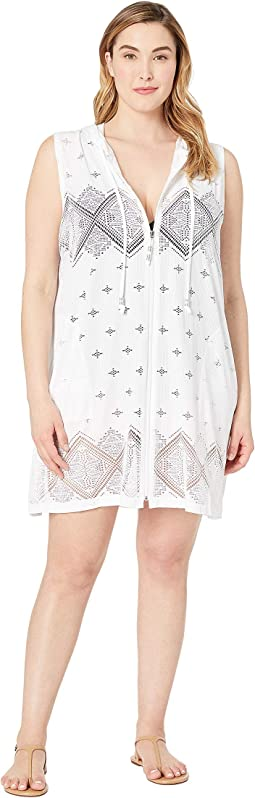 Plus Size Santorini Tile Dress Cover-Up