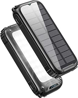 Tranmix Solar Charger 30000mAh High Capacity Portable Solar Phone Charger, 5V/3A Fast Charging Solar Power Bank with Three...