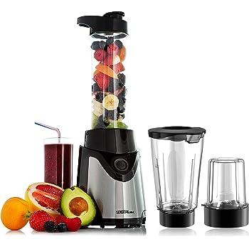 Sensio Home Personal Blender Smoothie Maker - Electric Juicer Grinder for Fruit, Vegetables, Protein Shakes – BPA Free 600ml Portable Sports Bottle, Grinder, Blending Jar - 500W