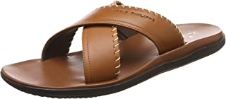 Louis Philippe Men's Leather Hawaii Thong Sandals